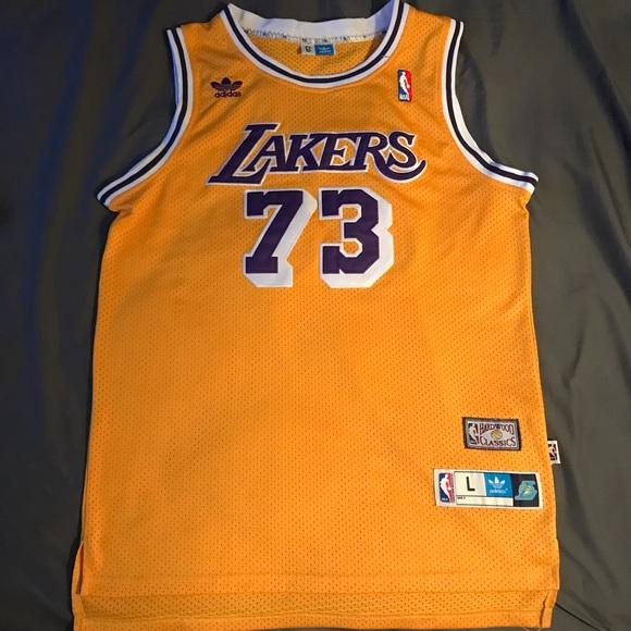 5d4343064 adidas Other - Adidas HWC Dennis Rodman Lakers jersey size large